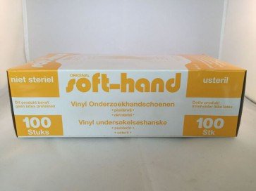 Gloves, vinyl 100pck L