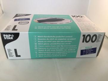 Handskar L Svart 100 pack